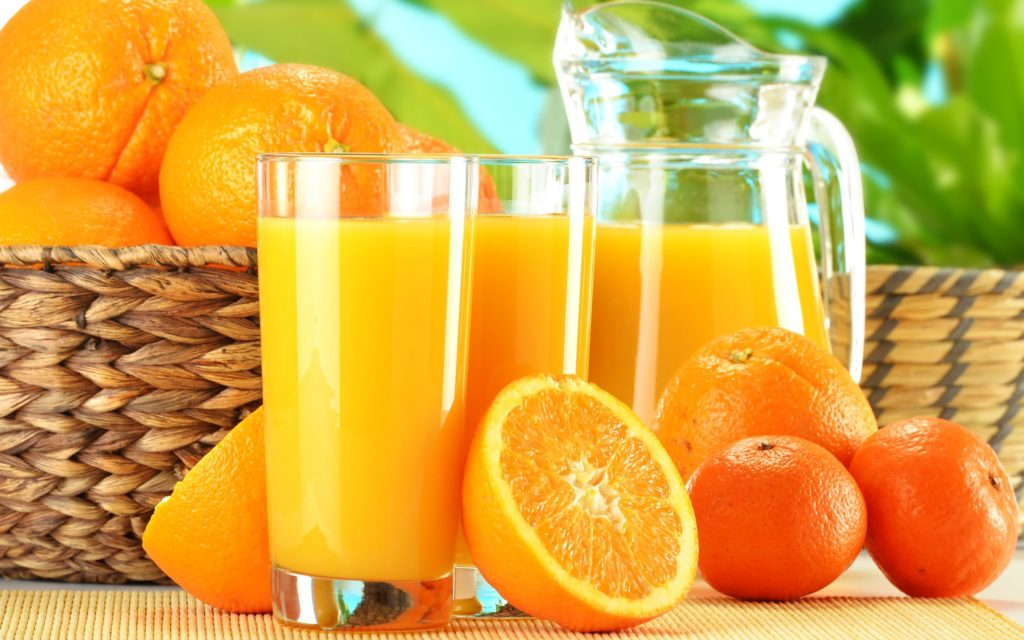 Orange fruit juice helps to stay young and beautiful